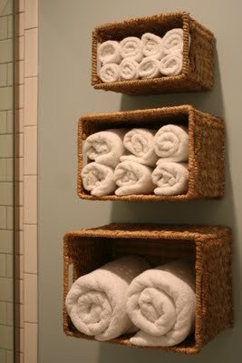 cool towel organizer idea!