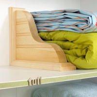 Organized Linen Closet ShelfDivider