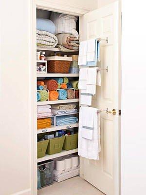 Towel Racks Help Organize the LinenCloset