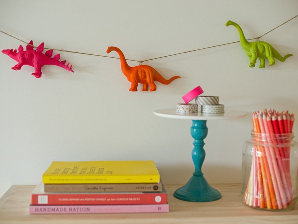 DIY Neon Animal Garland - Erin Loechner