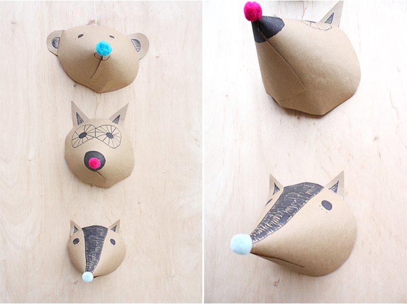 DIY + Paper + Animal + Head