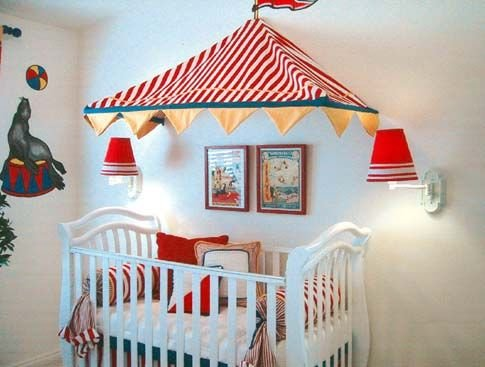 Circus Decorations | Free Pictures of circus-baby-room Design Interior Decoration Ideas