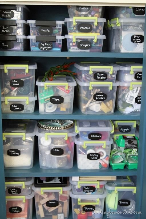 8 Tips for Organizing Craft Supplies - Finding Home