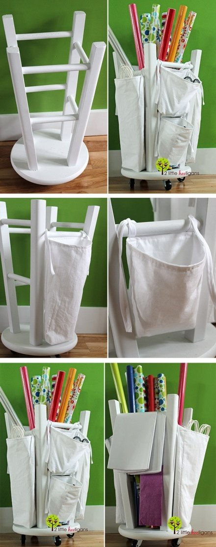 Make a Store Wrapping Paper From Chair