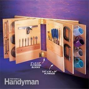 Flip-through tool storage