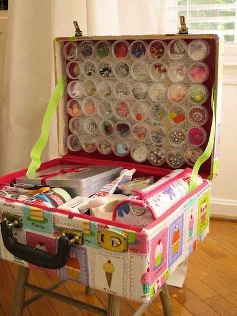 Custom crafting suitcase suitcase storage crafts organize organization organizer organizing organization ideas being organized organization images storage ideas organization idea pictures crafting