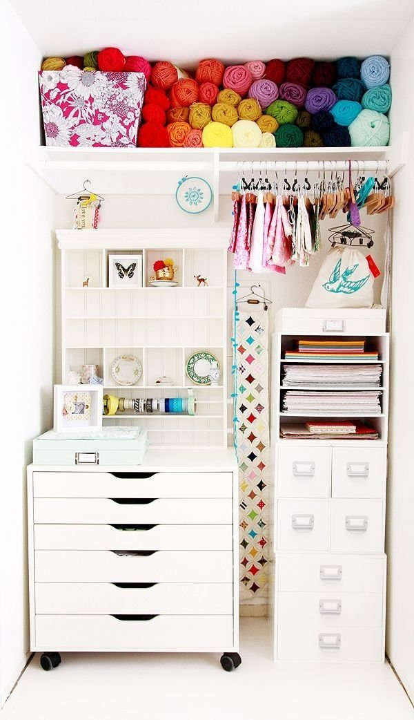 Organized craft space...